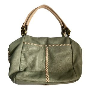 orYany Lyndsey Moss Green Leather Shoulder Bag